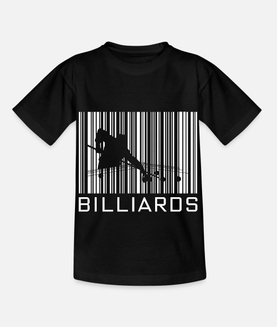 Training T-Shirts - Billiard hobby with barcode - Kids' T-Shirt black