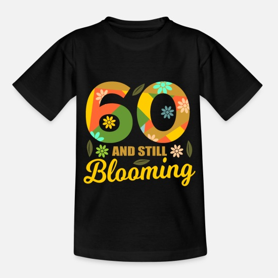 Birthday T-Shirts - 60th birthday 60 years old 60th party gift 196th - Kids' T-Shirt black