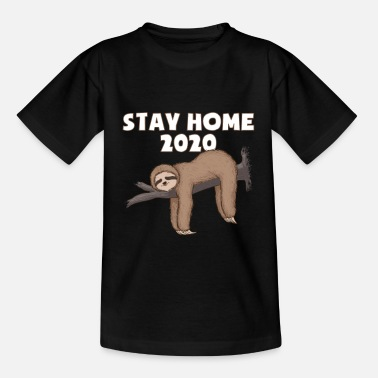 Corona Sloth Stay Home - Kids' T-Shirt