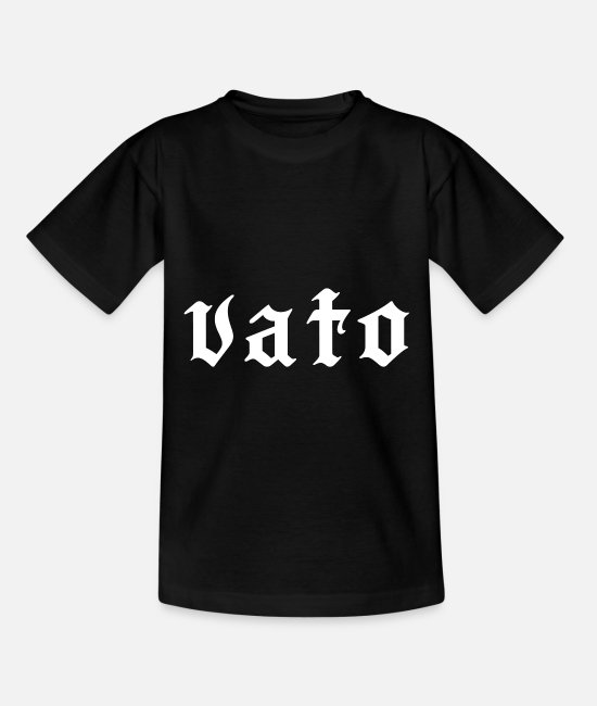 Gang T-Shirts - Vato latino - Kinder T-Shirt Schwarz
