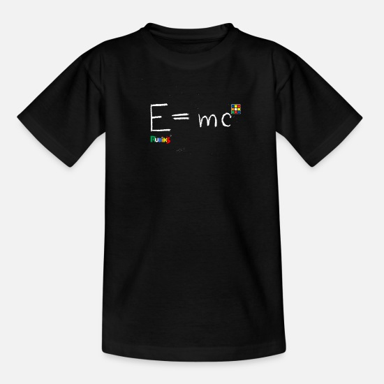 Rubik's Cube T-Shirts - Rubik's E = mc - Kids' T-Shirt black