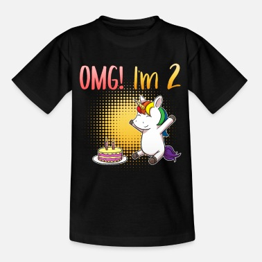 2º Cumpleaños OMG I Am 2 Unicorn Birthday Birthday Two - Camiseta niño