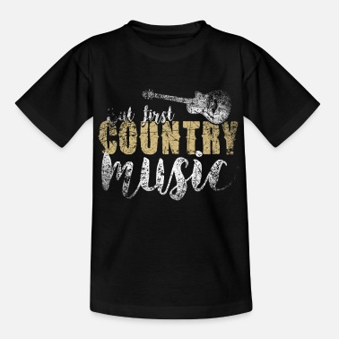 Country Country Music - Kinder T-Shirt