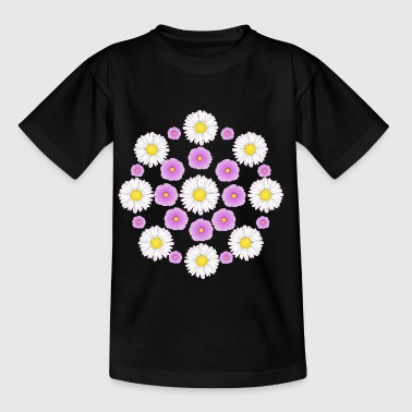 Flowers pink and white - Børne-T-shirt