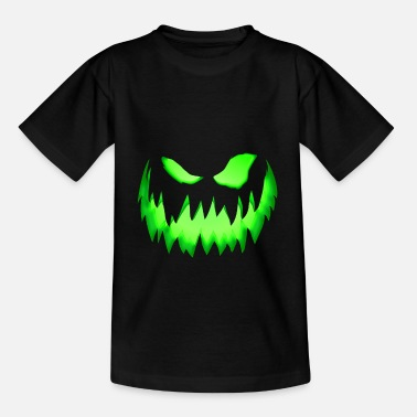 Scary Monster Green monster face - Kids' T-Shirt