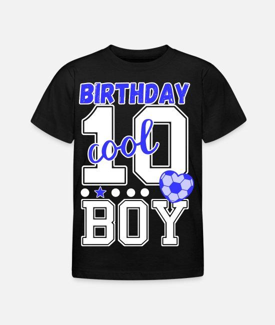 10 årsdag killar coola födelsedag pojke T shirt barn