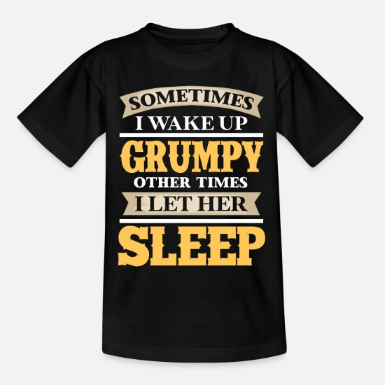 Gift Idea T-Shirts - Sleeping girlfriend - Kids' T-Shirt black