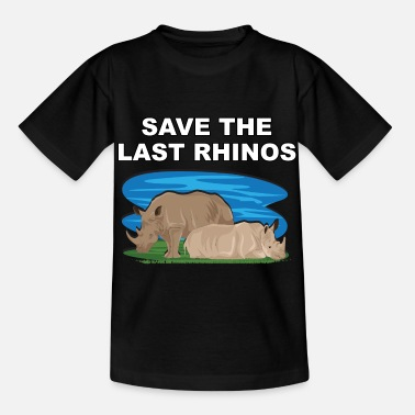 Wildlife Conservation Rhino Rhino Wildlife Conservation threatens wildlife - Kids' T-Shirt