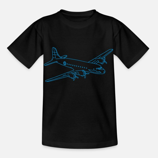 Airplane T-Shirts - Airplane - Kids' T-Shirt black