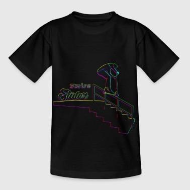 Scooter Stairs Sliders Techno - Kids' T-Shirt