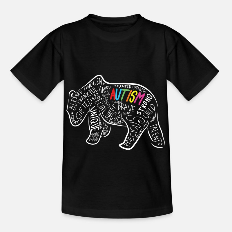 Bestsellers Q4 2018 T-Shirts - Daddy Bear Autism Awareness Birthday Shirt - Kids' T-Shirt black
