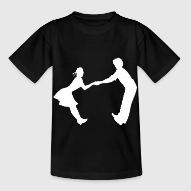 Dancing dance couple music dance music - Kids' T-Shirt