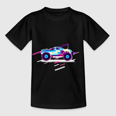 Car Wheel 80s Retro Violet - Kids' T-Shirt