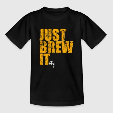 Football Is Life Beer Alcohol Party Gift Idea - Kids' T-Shirt