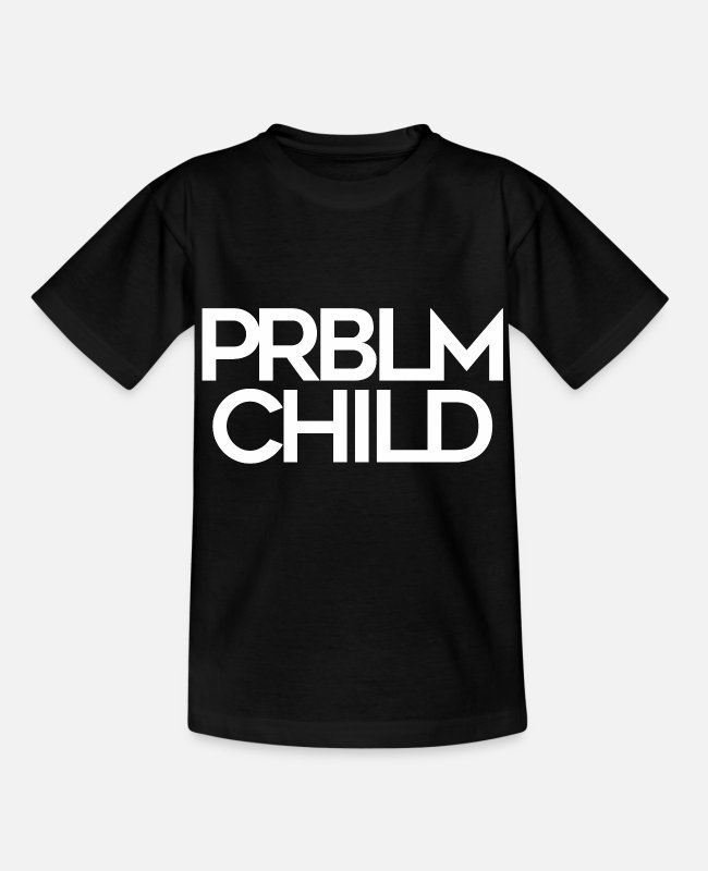 Schaufel T-Shirts - Problem Child funny cool shirt - Kinder T-Shirt Schwarz