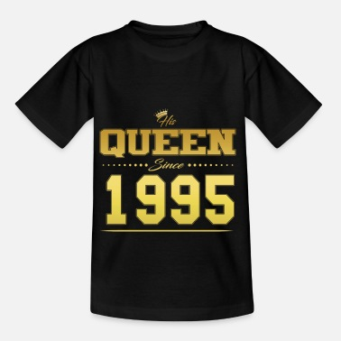 His Queen since Valentine's Day Partner couple 1995 - Kids' T-Shirt
