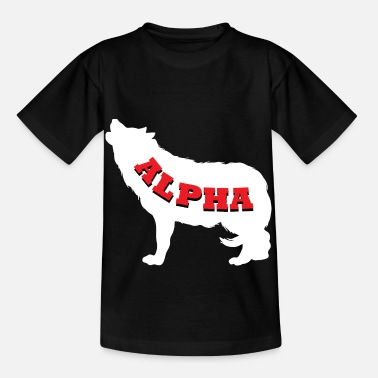 Beta Alpha Wolf Leader Animal Shirt Howl cool - Kids' T-Shirt