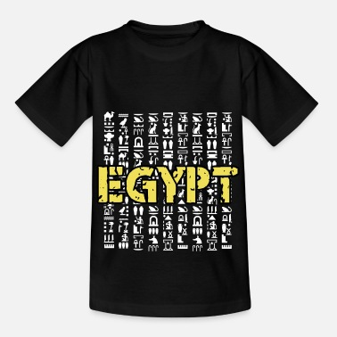 Ancient Egypt hieroglyphics Ancient Sphinx pyramid - Kids' T-Shirt