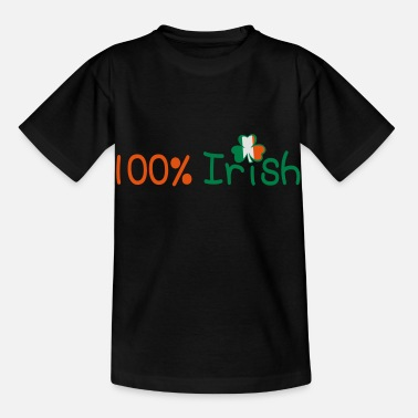 Uk Underwear ♥ټ☘Kiss Me I'm 100% Irish-Irish Rule☘ټ♥ - Kids' T-Shirt