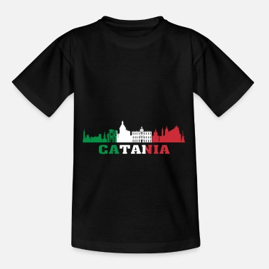 Catania City Catania City Skyline Italy Landmark Catania Italia - Kids' T-Shirt