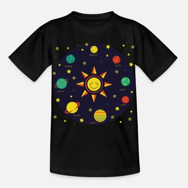 Planet Kids Solar System Planets Earth Sun Boys Girls - Kids' T-Shirt