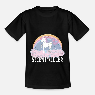 Unicorn silent killer - Kids' T-Shirt