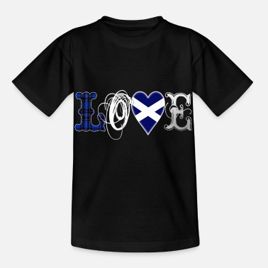 Writing Love Scotland Tartan Edition - white - Kinder T-Shirt