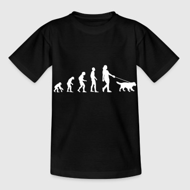 Hund | Gassi Gehen Evolution - Kinder T-Shirt