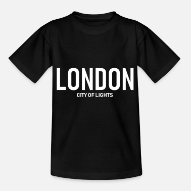 Britse Vlag London City of Lights, Groot-Brittannië, Verenigd Koninkrijk - Kinderen T-shirt