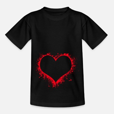 Speckled Speckled heart - Kids' T-Shirt