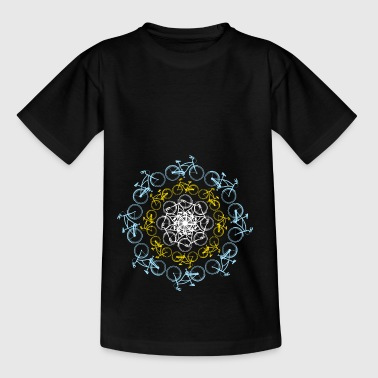 Bike Circle Wheel in a circle - the bike life - Kids' T-Shirt