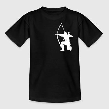 Longbow Archer kneeling stance - Kinder T-Shirt