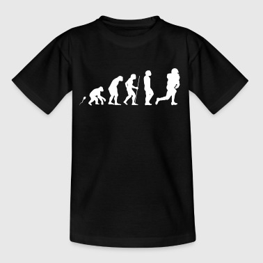 Football Evolution witziges Fun Shirt - Kinder T-Shirt