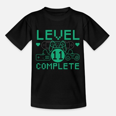 Level 11 Complete 11th Birthday Children's Gaming - Kids' T-Shirt