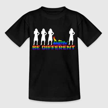 Gay Pride - Frauen - Be different - Kids' T-Shirt