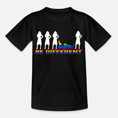 Gay Pride Gay Pride - Frauen - Be different - Kids' T-Shirt