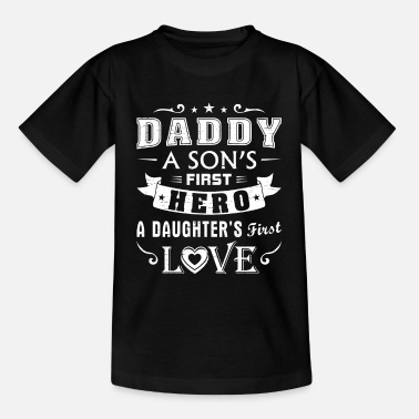 Hipster Dad a Sons First Hero a Daughters Love Great Messa - Kinderen T-shirt