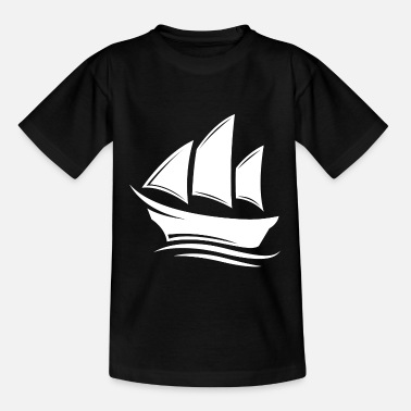 Mutter Segelboot Segelfahren Boot 4 white - Kinder T-Shirt