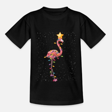 Fitness Flamingo Christmas Ornaments Tree Funny Sarcasm - T-shirt barn