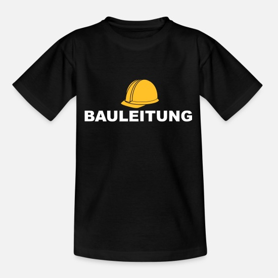 Gift Idea T-Shirts - Construction supervision Construction supervision Building construction - Kids' T-Shirt black