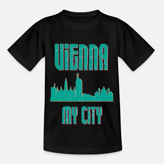 Country T-Shirts - Vienna MY CITY - Kids' T-Shirt black