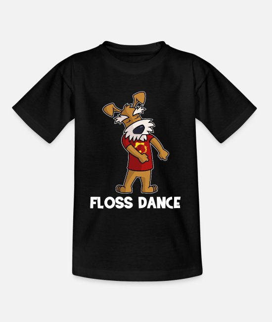 Dab T-Shirts - Float dance dog - Kids' T-Shirt black