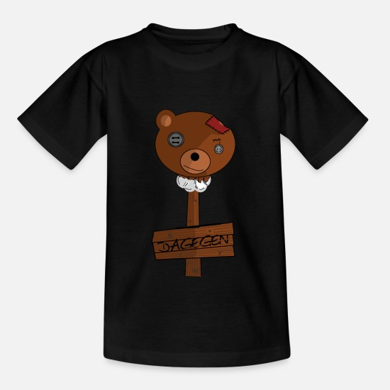 Carbon Dioxide T-Shirts - Teddy protest funny - Kids' T-Shirt black
