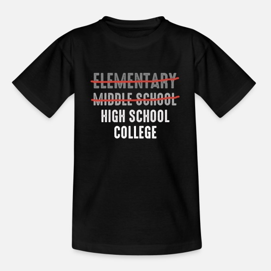 Junior T-shirts - Junior High Graduation Middle School Graduation - Kinderen T-shirt zwart