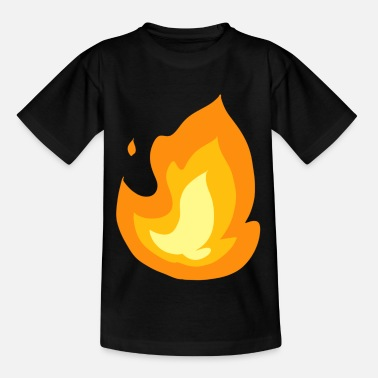 Flame Flame Fire Hot Hot Burning Brand Gift - Kids' T-Shirt