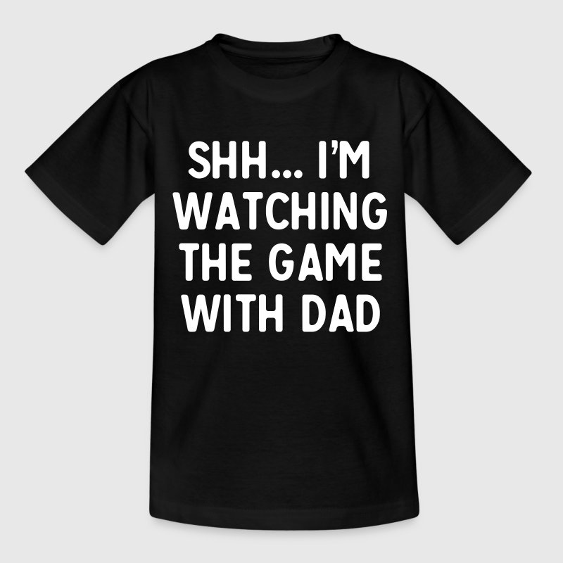 Shh...I'm watching the game with dad - Kids' T-Shirt