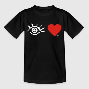 Eye-love Eye Love Logo White - Kinderen T-shirt
