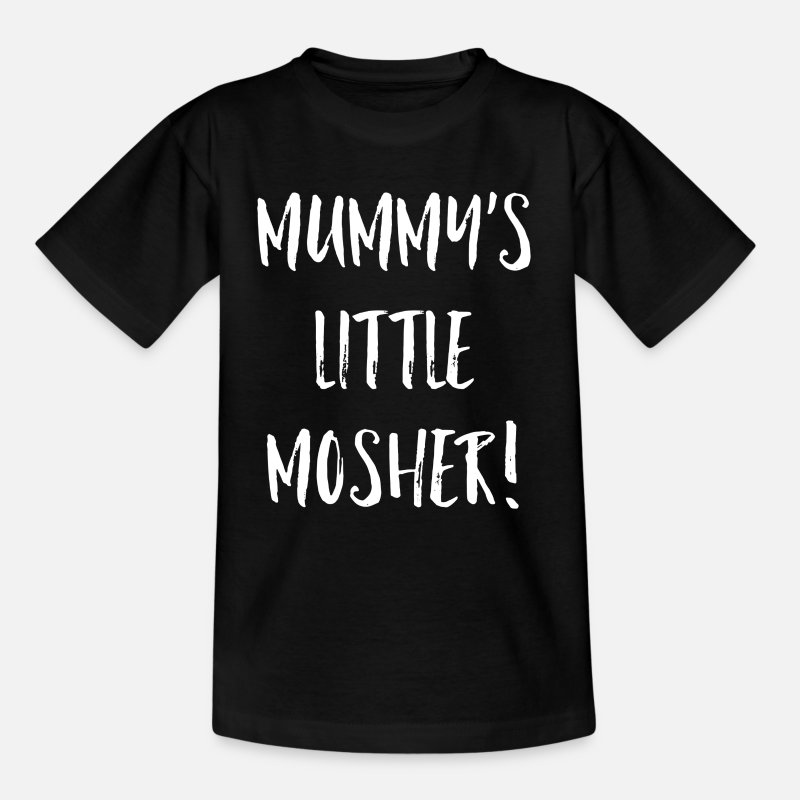 Mummy T-Shirts - Mummy's Little Mosher - Kids' T-Shirt black