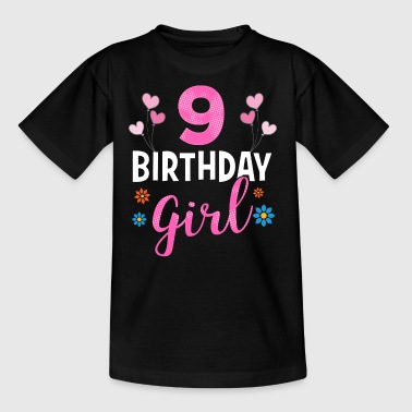 Birthday Girl - 9 years old - Kinder T-Shirt