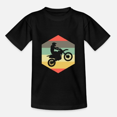 Motorcycle Retro dirt bike supercross gift I MX motocross - Kids' T-Shirt